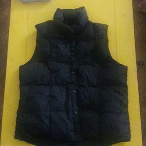 Black puffer LAND'S END vest